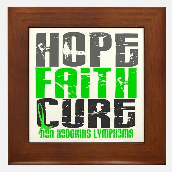 Hope Faith Cure NH Lymphoma Framed Tile