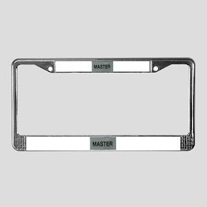 The MASTER License Plate Frame