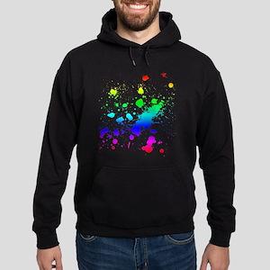 Rainbow Splatter Hoodie (dark)
