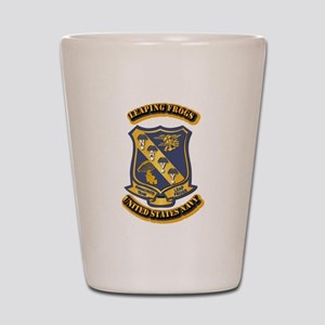 US - NAVY - Leaping Frogs Shot Glass