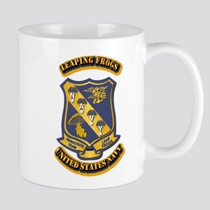 US - NAVY - Leaping Frogs Mug