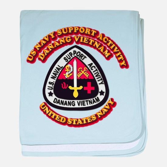 US - NAVY - USNSA - Danang Vietnam baby blanket