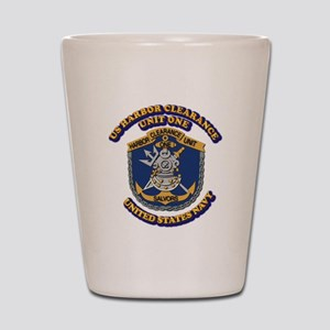 US - NAVY - Harbor Clearance Unit One Shot Glass