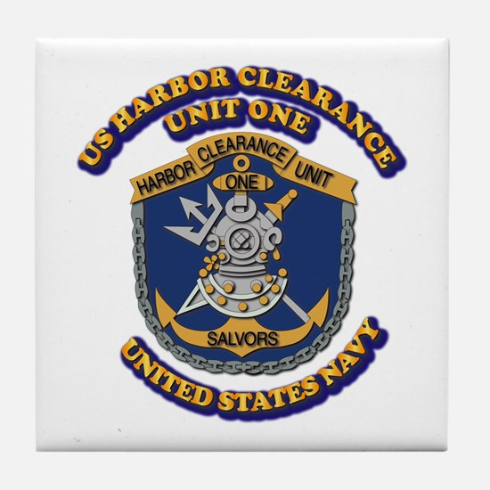 US - NAVY - Harbor Clearance Unit One Tile Coaster