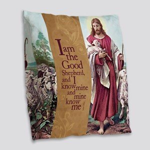 The Good Shepherd Burlap Throw Pillow