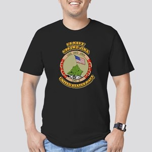 US - NAVY - USS Iwo Jima Men's Fitted T-Shirt (dar