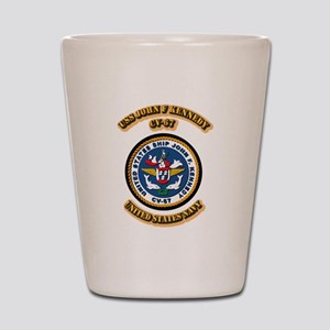 US - NAVY - USS John F Kennedy - CV-67 Shot Glass