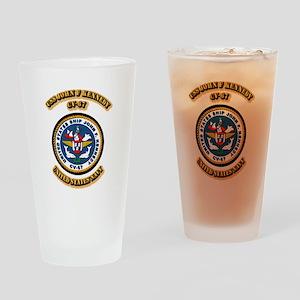 US - NAVY - USS John F Kennedy - CV-67 Drinking Gl