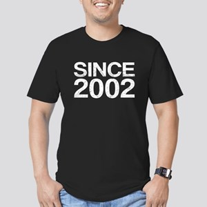 Since 2002, Vintage Men's Fitted T-Shirt (dark)