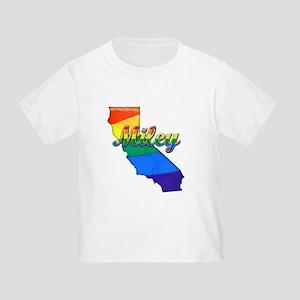 Miley, California. Gay Pride Toddler T-Shirt