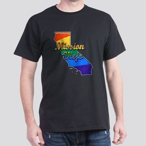 Mission Viejo, California. Gay Pride Dark T-Shirt