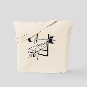 Powerlifting Bench Press Tote Bag