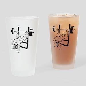 Powerlifting Bench Press Drinking Glass