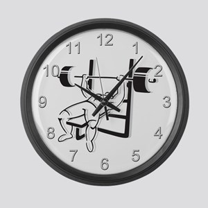 Powerlifting Bench Press Large Wall Clock