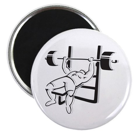 """Powerlifting Bench Press 2.25"""" Magnet (100 pack)"""