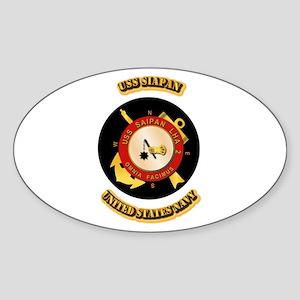 US - NAVY - USS Siapan Sticker (Oval)