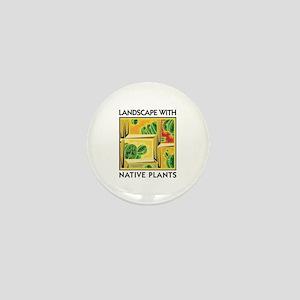 Landscape with Native Plants Mini Button