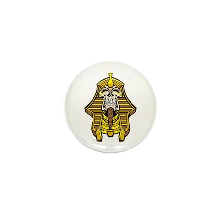 Skull Pharaoh Mini Button (100 pack)