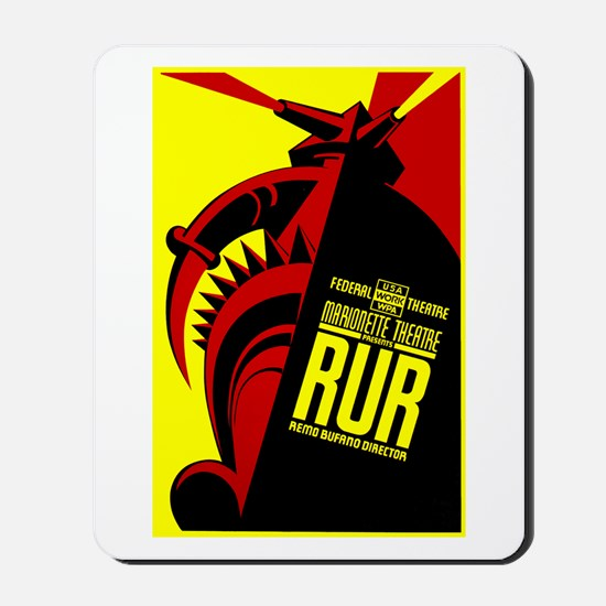 Marionette Theatre WPA Poster Mousepad