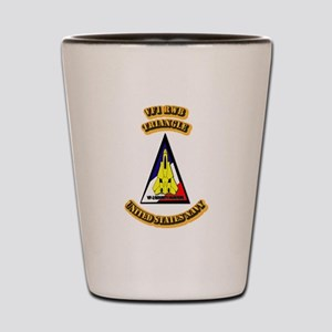 US - NAVY - VF-1 - RWB - Triangle Shot Glass