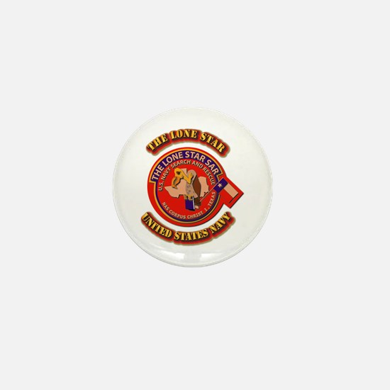 US - NAVY - The Lone Star Sar Mini Button