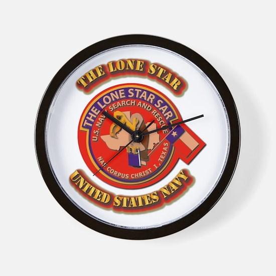 US - NAVY - The Lone Star Sar Wall Clock