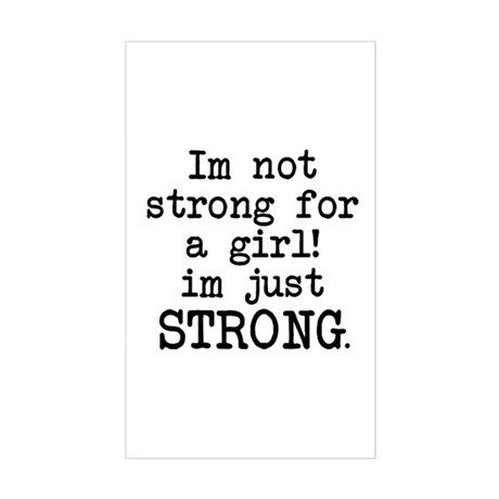 Just strong Sticker (Rectangle)