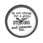 Just strong...and awesome Wall Clock