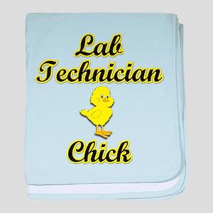 Lab Technician Chick baby blanket
