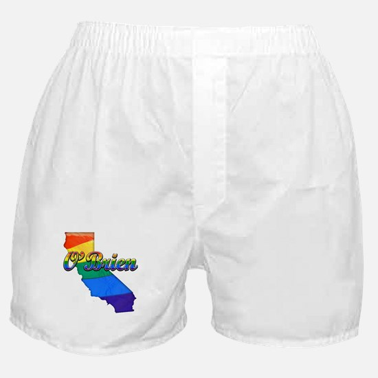 OBrien, California. Gay Pride Boxer Shorts