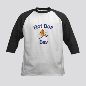 Hotdog Day Kids Baseball Jersey