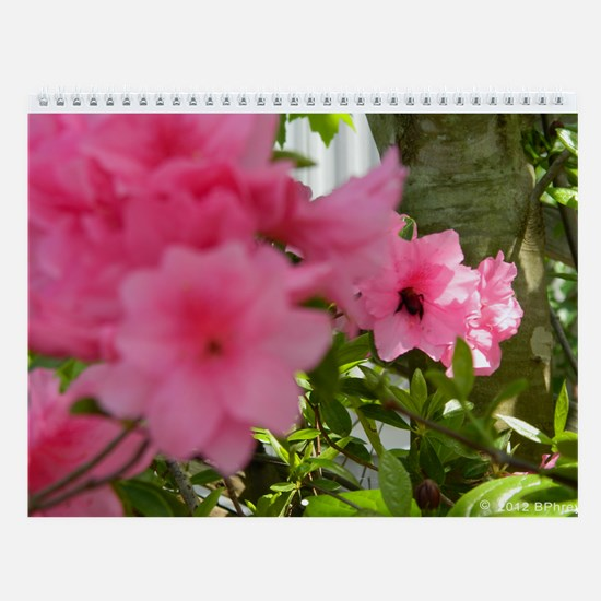 Honey Bee Azalea Wall Calendar