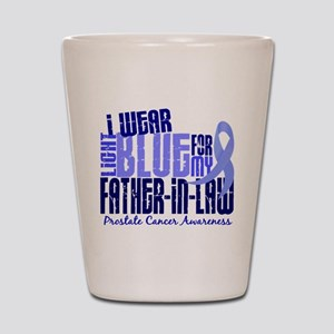 I Wear Light Blue 6.4 Prostate Cancer Shot Glass