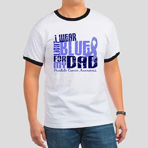 I Wear Light Blue 6.4 Prostate Cancer Ringer T
