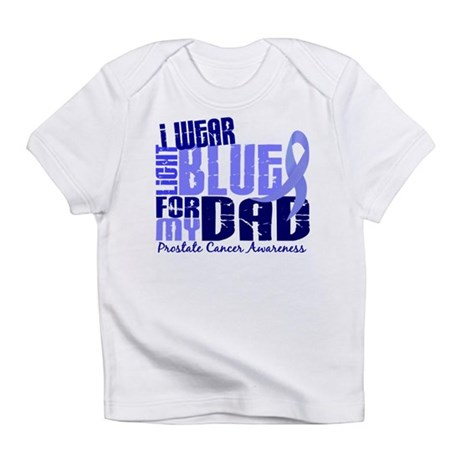 I Wear Light Blue 6.4 Prostate Cancer Infant T-Shi