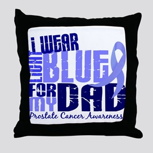 I Wear Light Blue 6.4 Prostate Cancer Throw Pillow