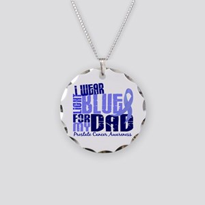 I Wear Light Blue 6.4 Prostate Cancer Necklace Cir