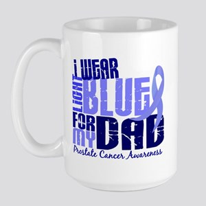 I Wear Light Blue 6.4 Prostate Cancer Large Mug