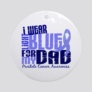 I Wear Light Blue 6.4 Prostate Cancer Ornament (Ro