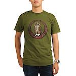 Celtic Owl Organic Men's T-Shirt (dark)