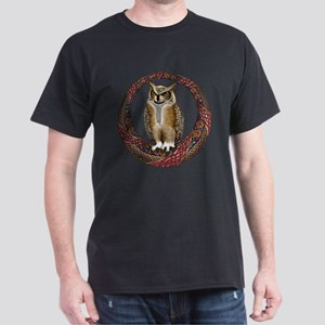 Celtic Owl Dark T-Shirt