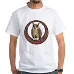 Celtic Owl White T-Shirt