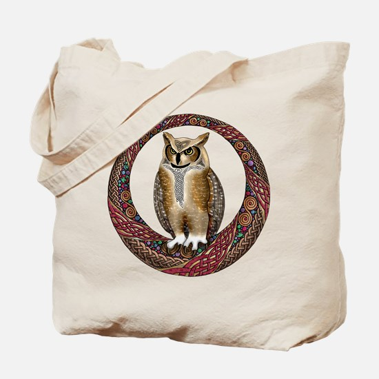 Celtic Owl Tote Bag