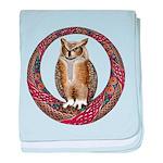 Celtic Owl baby blanket