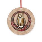 Celtic Owl Ornament (Round)