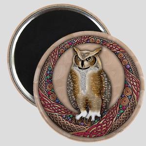 Celtic Owl Magnet