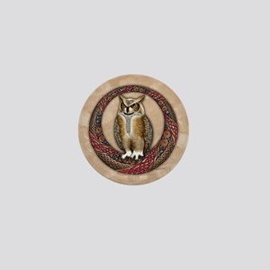 Celtic Owl Mini Button