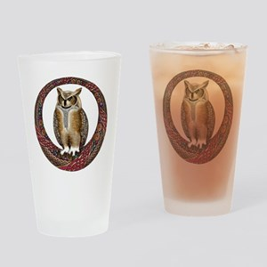 Celtic Owl Drinking Glass