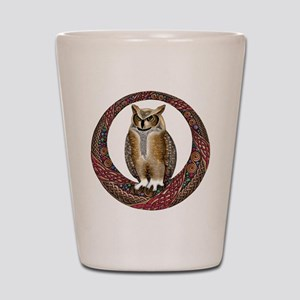 Celtic Owl Shot Glass