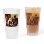 Santas Airedale Drinking Glass